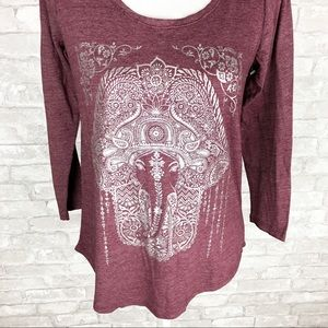 Lucky Brand Elephant top size Small